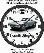 1967 CHEVROLET STINGRAY CORVETTE WALL CLOCK-Camaro, Mustang, Charger