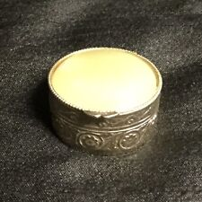 ✨ A GORGEOUS VINTAGE SNUFF/PILL ROUND BOX WITH A POLISHED ONYX HINGED LID ✨