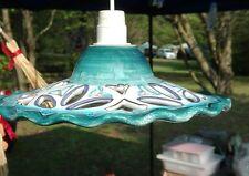 lampadario in ceramica dipinto a mano