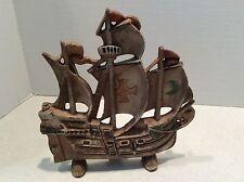 "Vintage cast iron sailing ship doorstop ""No.205"""