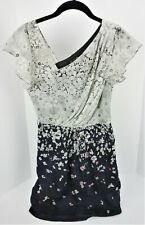 XS Miss Me MM Couture Mini Dress Floral Lined Side Zip