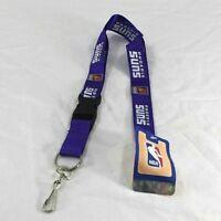 NBA Phoenix Sun Purple Lanyard Key Chain W/ Detachable Buckle
