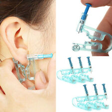 6X Disposable Safety Sterile Ear Piercing Gun Unit Tool With EarStud Asepsis Kit