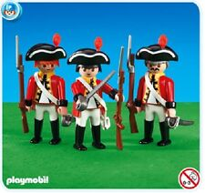 Playmobil 3 British Redcoat Soldiers 6229 mint in Bag NEW add on series 158