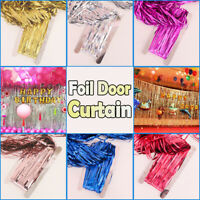 2M-3M Metallic Tinsel Foil Fringe Curtain Photo Backdrop Birthday Party Wedding