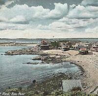 Nahant MA Bass Point Beach Summer Cottages Leighton Postcard c1900s