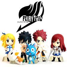 Anime Fairy Tail Natsu Happy Lucy Gray Elza Figure Figurine No Box