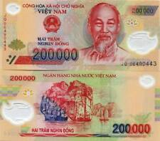 1 MILLION VIETNAMESE DONG - VND CURRENCY - (5) 200,000 Notes - FAST DELIVERY