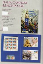 folder postali italia campioni del mondo 2006 emesso il 09-09-2006
