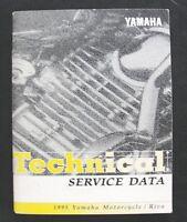 1995 YAMAHA 125 250 225 350 600 750 1000 1100 1200 MOTORCYCLE SPECIFICATI MANUAL