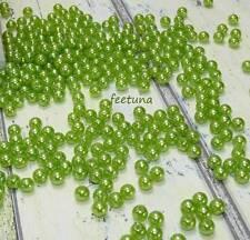 250 Perlen perlmutt hellgrün Hochzeit Wachsperlen Perle grün apfelgrün 8mm