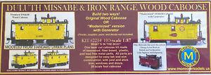 Ho Scale Monroe Models Duluth Missabe & Iron Range Wood Caboose Modern Original