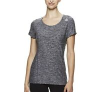Reebok Dynamic S/S Top Black Heather Size Medium