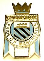 Manchester City Champions Badge Football Pin