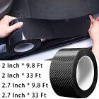 Carbon Sticker Fiber Protector Sill Scuff Cover Anti Scratch Strip Car Door Body