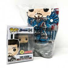 Avengers: Endgame - Tony Stark Iron Man #449 Glow Funko Pop! Vinyl + M T-Shirt