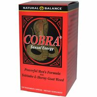 Cobra Sexual Energy with Yohimbe & Horny Goat Weed, 120 Vegetarian Capsules