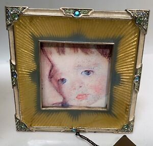 JAY STRONGWATER - MINI PICTURE FRAME  Enamel With Swarovski Crystals