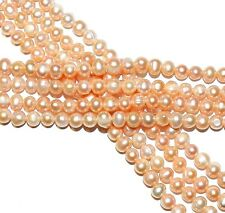 """NP255 Pink 8mm Cultured Freshwater Semi-Round Potato Pearl Beads 14"""""""