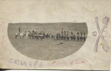 Real Photo Postcard RPPC 6th U.S. Cavalry Ft. Meade South Dakota Trick Riding