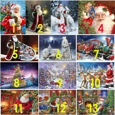 5D DIY Diamond Painting Full Drill Santa Art Cross Stitch Kits Home Christmas UK