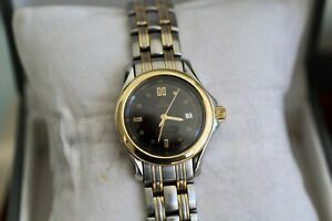 Omega Seamaster Ladies Full Size 28mm Blue Dial 120m 18kt Solid Gold & Steel