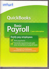 QuickBooks Basic 2009 Payroll Intuit Small Business 1-3 Employee  NEW IN BOX
