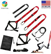 Bodyweight Resistance Fitness Trainer Kit, Home Gym Suspension Training Straps