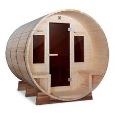 ALEKO Outdoor Pine Wood Barrel Steam 4 Prs Sauna with Bitumen Roof and Heater
