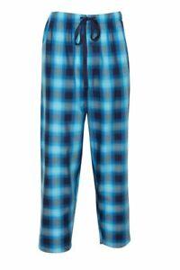 Cyberjammies PJ Pants Men's Elliot Blue Check Pants Size M Cotton & Lyrocell