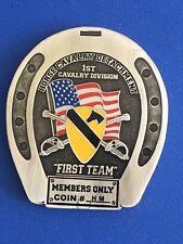 1st Cav. Horse Det. Honorary Member Brass Challenge Coin
