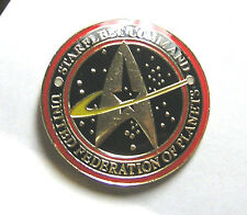 "Star Trek UFP Starfleet Command Logo 1.25"" Metal Pin- FREE S&H (STPI-SC01)"