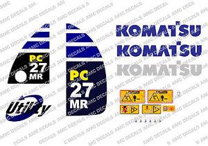 KOMATSU PC27MR DIGGER DECAL STICKER SET