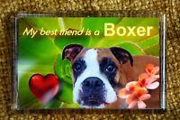 Boxer Dog Gift Dog Fridge Magnet 77x51mm Birthday Gift Xmas Mothers Day Gift