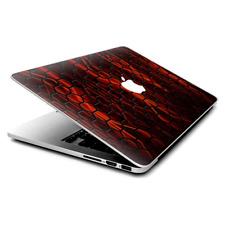 "Skin Decals Wrap for MacBook Pro Retina 13"" - abstract red metal"