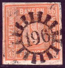 BAVARIA BAYERN GERMAN STATES Mi. #7 scarce used stamp! CV $300.00