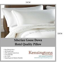 Kensingtons® Luxury White Siberian Goose Down Pillows 1000g Filling COTTON Cover