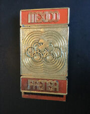 New listing Mexico Press Olympic Pin Badge Noc From The 1968 Mexico Olympiad