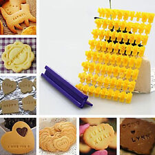 Alphabet Letter Number Biscuit Cookie Fondant Cutter Press Stamp Embosser Mould