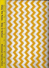 """QUILT FABRIC: 100% COTTON, GOLD 1/2"""" CHEVRON STRIPE, By The Yard"""