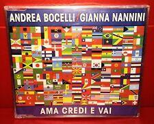 CD ANDREA BOCELLI / GIANNA NANNINI - AMA CREDI E VAI - 4 TRACKS - NEW - SINGLE