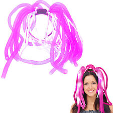 Dazzling Toys Pink LED Light Up Noodle Headband Flashing Bopper Party Dreads