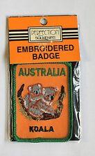 AUSTRALIA KOALA EMBROIDERED BADGE,AUSTRALIA KOALA WOVEN CLOTH BADGE,PATCH/BADGE