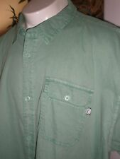 NWT ECKO UNLTD GREEN S/S FULL BUTTONED DRESS SHIRT SZ:3XB 3XL 3X XXXL
