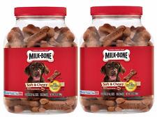 Milk-Bone Soft And Chewy Treats Filet Mignon Recipe Dog Snacks (2) 37 Oz Jars