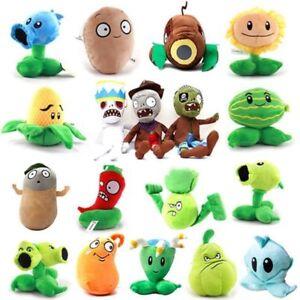 Plants vs Zombies Plush Figure Characters 18-35cm Plush Toy Peashooter Zombie Po