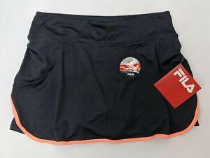 Fila Flirt Back Skort Women Size XS Black/Coral Trim FW161MT5