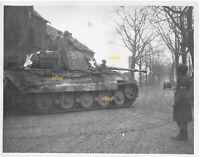 December 1944 Signal Corps Reprint Photo German King Tiger Tank 129th Ord Bn