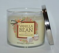 BATH & BODY WORKS VANILLA BEAN MARSHMALLOW SCENTED CANDLE 3 WICK 14.5OZ LARGE