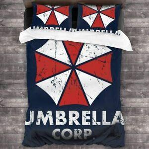 Resident Evil Umbrella Corporation Bedding Set 3PCS Duvet Cover Pillowcases Set